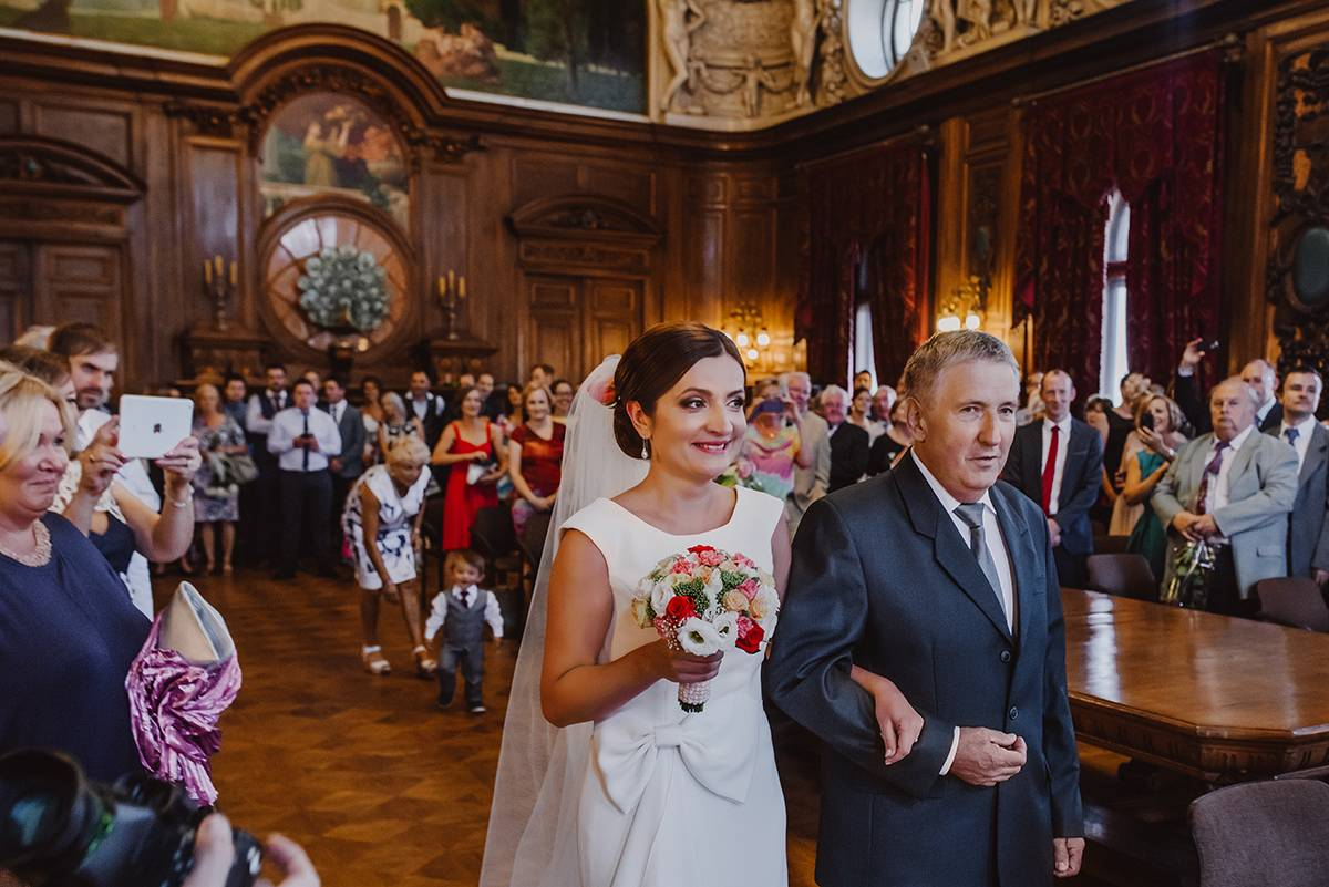 polish-irish wedding in museum of lodz