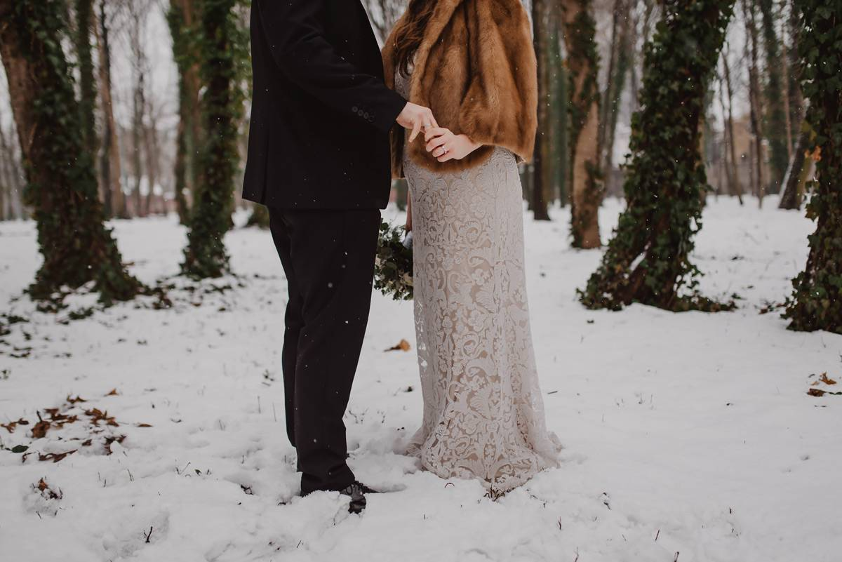 winter wedding in reduta banku polskiego